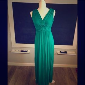 Cable and Gauge XS green maxi dress